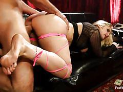 milf, blonde, big tits, round ass, kinky, cumshot, oiled, couch, from behind, sexy legs, feetjob, feet fetish, foot worship, kink, sarah vandella, ryan driller, sarah vandella, ryan driller, foot worship, kinky dollars