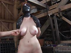 milf, bondage, bdsm, big tits, mask, blindfolded, tied up, big naturals, barn, real time, real time bondage, holly wildes, holly wildes, real time bondage, kinkster cash
