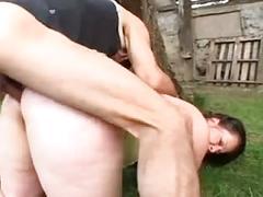 Granny bbw ass fucked