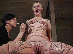 milf, blonde, bdsm, mistress, tied up, pussy torture, tits torture, ropes, squeezed tits, shibari, sharp stick, hard tied, kylie liddell, kylie liddell, hard tied, kinkster cash