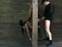 Black sweaty milf dominated and fucked