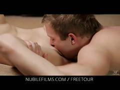 Nubile films - pussy dripping with her lovers hot cum load