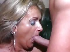 Mature mother takes some young dick
