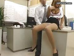 Japanese having sex in office