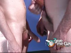 Group of boys jerking to shower us cum