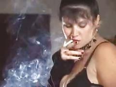 Smokin strapon femdom