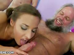 Amirah adara takes three cocks at the same time!