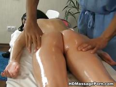 Nude chick and dirty fucking after massage