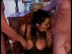Busty hairy milf fucked by 3 guys (sid)