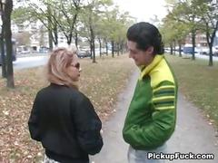 Blonde fucked for 200 bucks on the street
