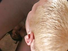 White blonde guy fucks an ebony whore