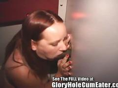 Gloryhole girl deb cum coated tits in tampa gloryhole