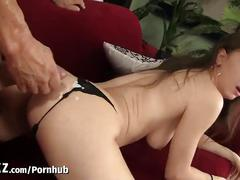 Wankz - hot girl in thong picked up and fucked!