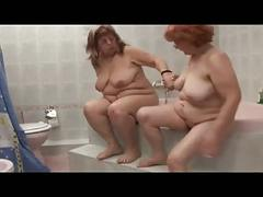Bbw granny in shower