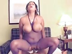 Chubby latina  with natural big boobs fucked hard