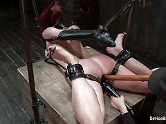 milf, bdsm, redhead, mistress, vibrator, tied up, tits torture, leather belts, stick with dildo, device bondage, muzzle, device bondage, kink, chastity lynn, chastity lynn, device bondage, kinky dollars