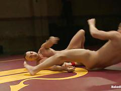 Gays wrestle and fuck in the same time