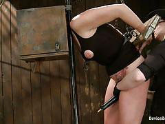bdsm, round ass, mistress, vibrator, tied up, shackles, device bondage, box on head, restraints, device bondage, kink, josi valentine, josi valentine, device bondage, kinky dollars
