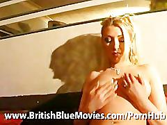 British blonde tequila woods gets very naughty on a strip club couch