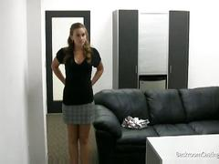 Hot blonde babe gets hard fuck in a casting