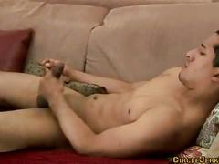 Brett staley home alone and jerking his big cock