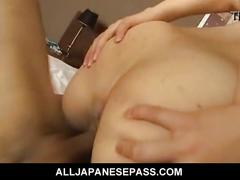 Rui aikawa bent over her pink pussy fingered and fucked