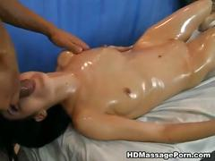 Hot babe shoots in crazy massage porn movie