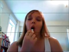 Chubby teen on webcam