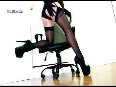 brunette, milf, striptease, corset, garter, stockings, nylons, pantyhose, heels, stiletto, platform, gloves, lipstick, femdom, domme, hypno, trance
