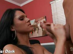 Busty brunette jennifer suck and ride a large cock