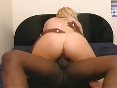 White booty meets big black cock