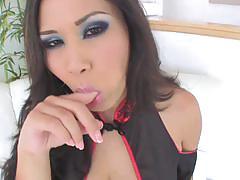 Hot asian babe jessica bangkok sucks 6 cocks