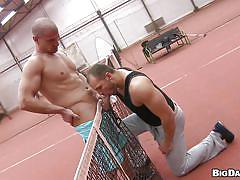 anal, blowjob, sport, bareback, gays, from behind, tennis field, public place, muscled gays, out in public, big daddy, max born, tomm, max born, tomm, out in public, haze cash