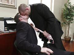 Executive guys in suits love sucking cock