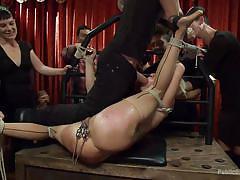 blonde, bondage, bdsm, big tits, blowjob, pussy torture, public disgrace, device bondage, public disgrace, kink, barry scott, lea lexis, zoey portland
