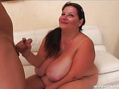 Bbw devours a dick