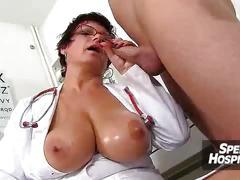 Huge naturals tits uniform mom eva is dirty doctor