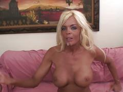 Hot blonde milf loves big and black