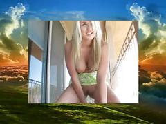 Alison angel  cielo azul al desnudo