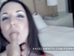 Angela white - fucking and huge facial