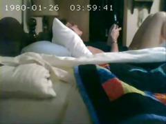I caught my mom masturbating on bed. hidden cam