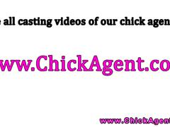Casting agent shows lesbian side for babe client