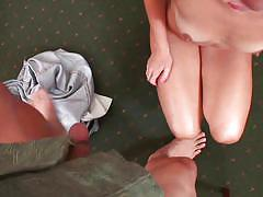 Riley sucks a mean cock and jerks nice