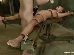 milf, bondage, bdsm, submissive, brunette, tied up, leather belts, hot wax, restraints, sex and submission, kink, rilynn rae, xander corvus, rilynn rae, xander corvus, sex and submission, kinky dollars