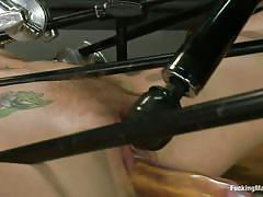 milf, tattoo, blonde, bdsm, solo, kinky, fucking machine, dildo, vibrator, moaning, wet pussy, restraints, fucking machines, kink, chastity lynn, chastity lynn, fucking machines, kinky dollars