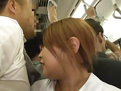 milf, upskirt, handjob, asian, public, subway, white panties, sexy ass, brown hair, harassment, crowded, public sex japan, all japanese pass, public sex japan, idol bucks