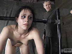 milf, bdsm, crying, brunette, chained, shackles, bastonnade, ass whipping, real time bondage, katharine cane, katharine cane, real time bondage, kinkster cash