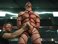 handjob, bdsm, gays, tied up, ropes, ball gag, mouth gagged, shibari, men on edge, kink men, casey more, casey more, men on edge, kinky dollars