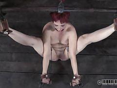 milf, bdsm, tied up, short haired, sex toy, mouth gagged, stick with dildo, real time, real time bondage, claire adams, claire adams, real time bondage, kinkster cash