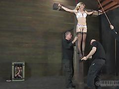 milf, blonde, bondage, bdsm, big tits, hanging, stockings, cage, tied up, executors, real time, real time bondage, cherie deville, cherie deville, real time bondage, kinkster cash